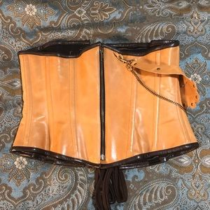 Other - Steampunk leather under bust corset